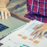 Man creating project estimates